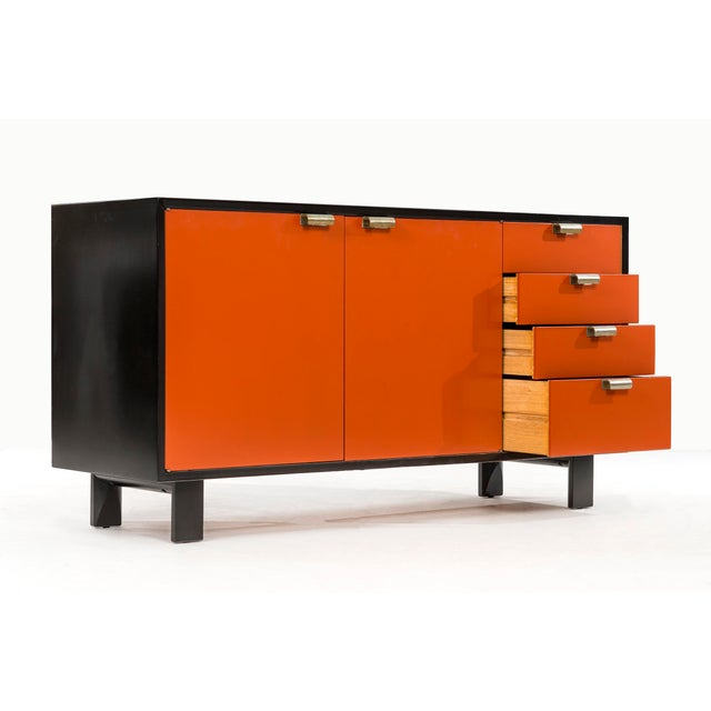 Orange George Nelson Orange Credenza For Sale - Image 8 of 13