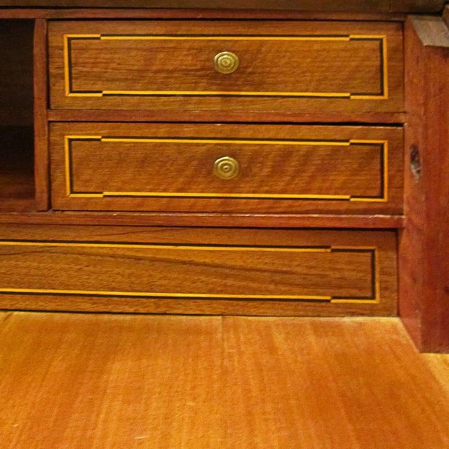 19th Century Italian Inlaid Walnut Cylinder Desk For Sale In West Palm - Image 6 of 6
