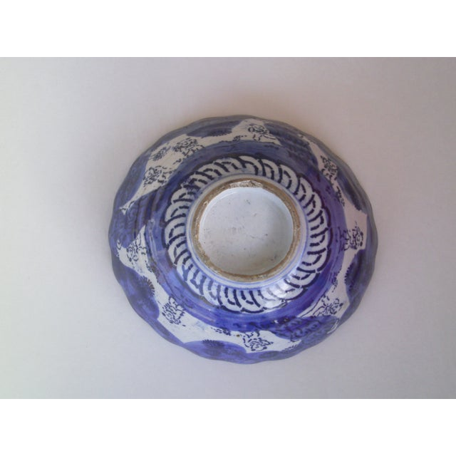 19th Century Blue & White Oriental Bowl - Image 5 of 9