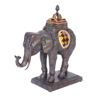 Mid Century Bronze Elephant by Maitland -Smith For Sale