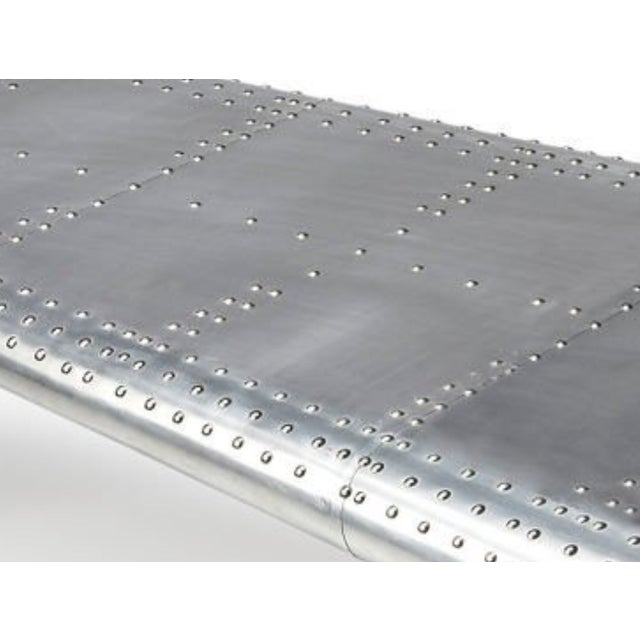 Aluminum Aviator Coffee Table - Image 3 of 5