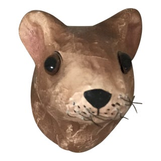 Small Paper Mache Mouse Head For Sale