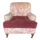 Image of O. Henry House Custom Rolled Arm Chair For Sale