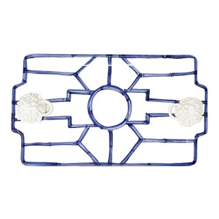 Italian Hand Painted Fretwork Tray For Sale
