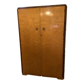 Austin Enterprises Art Deco Birdseye Maple Armoire For Sale