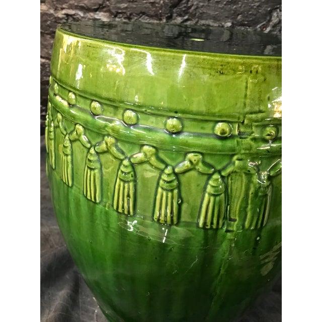 Green Glaze Tassel Garden Stool - Image 5 of 8