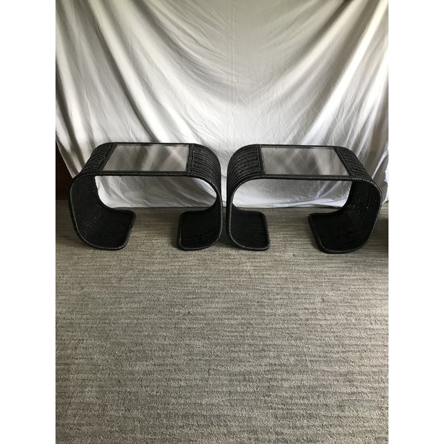 Mid Century Waterfall End Tables For Sale - Image 10 of 10