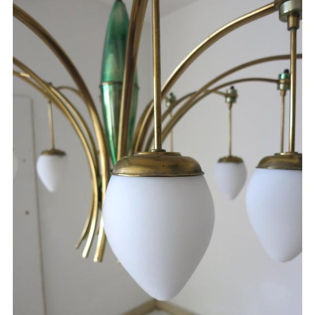 Mid-Century Modern Stilnovo Diablo Chandelier For Sale - Image 3 of 6
