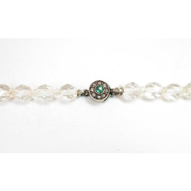 Edwardian Cut Lead Crystal Bead Choker Necklace & Sterling Earrings,1905 For Sale - Image 11 of 13