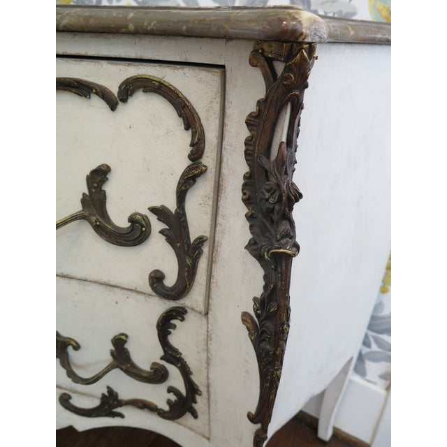 Mid-Century Modern 19th Century Rococo Painted Commode For Sale - Image 3 of 9