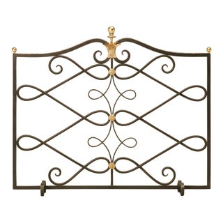 Customizable G. Poillerat Style Handmade Fire Screen For Sale