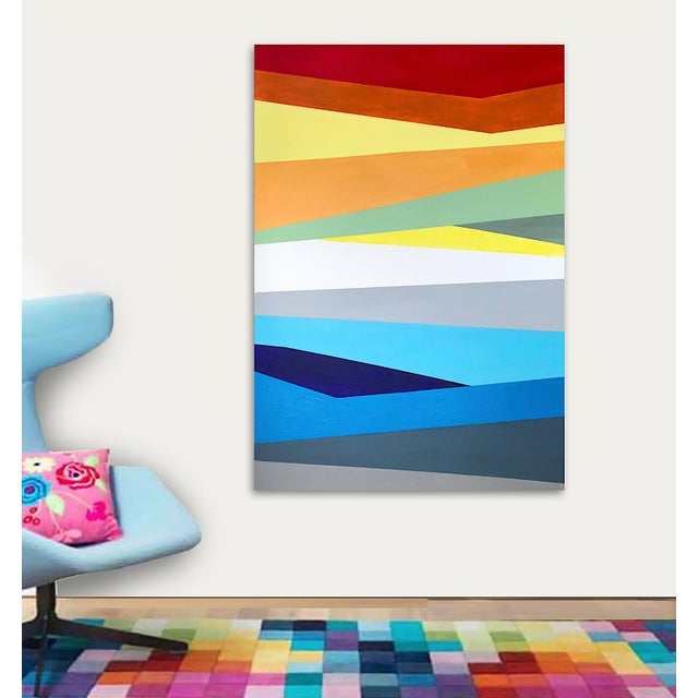 Contemporary 'Prismatic' Original Abstract Painting by Linnea Heide For Sale - Image 3 of 8