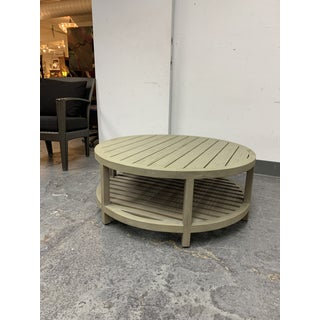 Janis Et Cie Arbor Cocktail Table Round Weathered Teak Preview