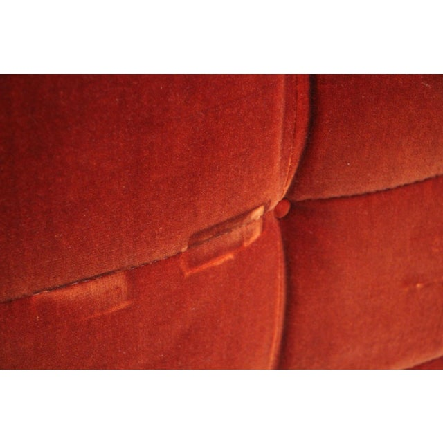 1970s French Modular Mohair Sofa For Sale - Image 9 of 13