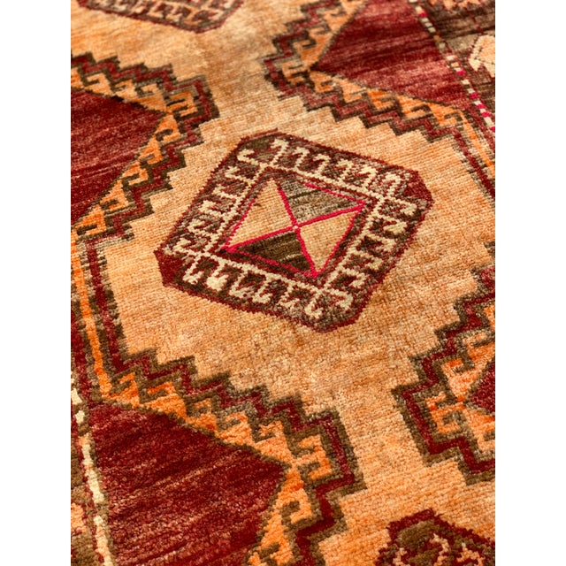 "Textile 1950's Vintage Turkish Anatolian Runner Rug - 3'2""x11'2"" For Sale - Image 7 of 13"