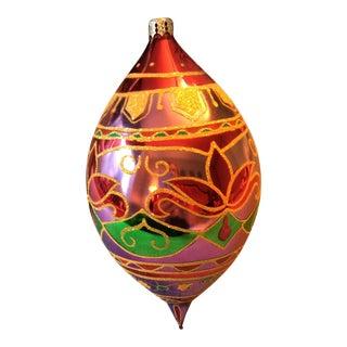 "Christopher Radko ""Lotus Palace"" Oblong Teardrop Ornament For Sale"