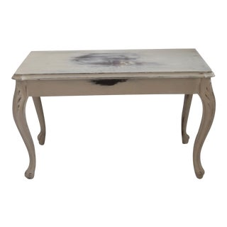 Vintage Distressed Piano Bench For Sale