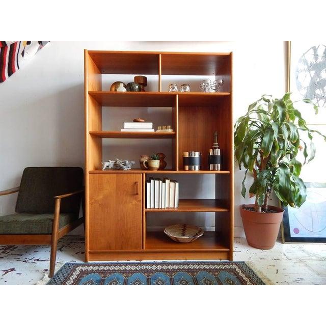 Mid-Century Style Teak Shelving Unit - Image 4 of 5