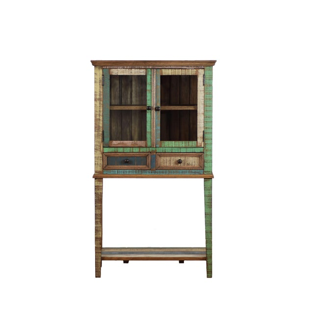 Reclaimed Wood Display Cabinet For Sale - Image 4 of 4