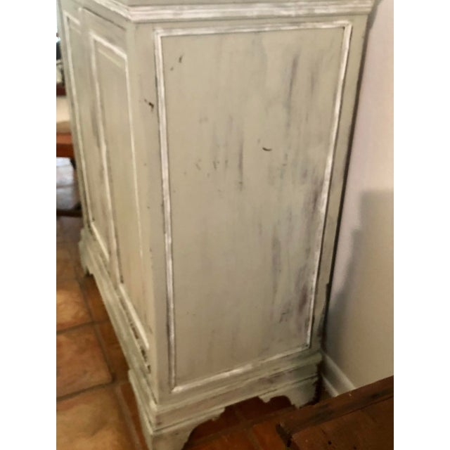 Light Gray Sideboard With Double Doors For Sale - Image 9 of 11