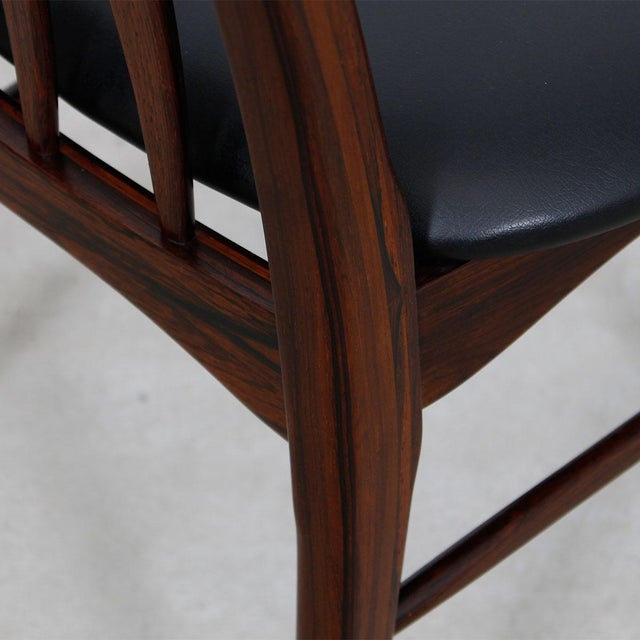 Koefoed Hornslet Rosewood Dining Chairs - Set of 10 - Image 7 of 8