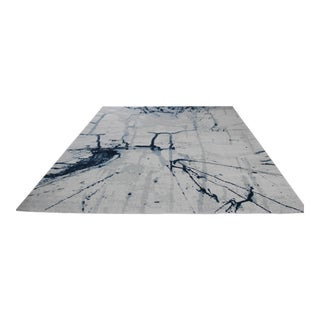 Brush Stroke Blue Abstract Rug - 5′3'' × 7′7''