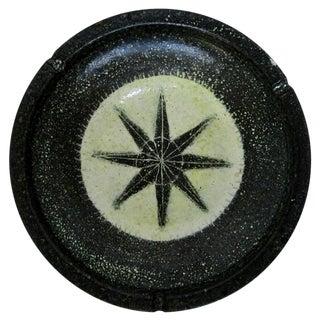 Spanish Rustic Ceramic Ashtray For Sale