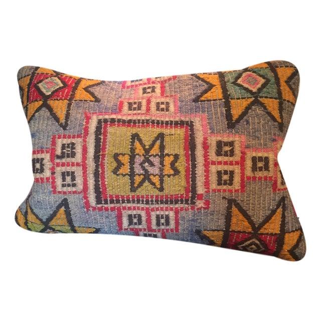 Vintage Turkish Kilim Lumbar Pillow Cover - Image 1 of 3
