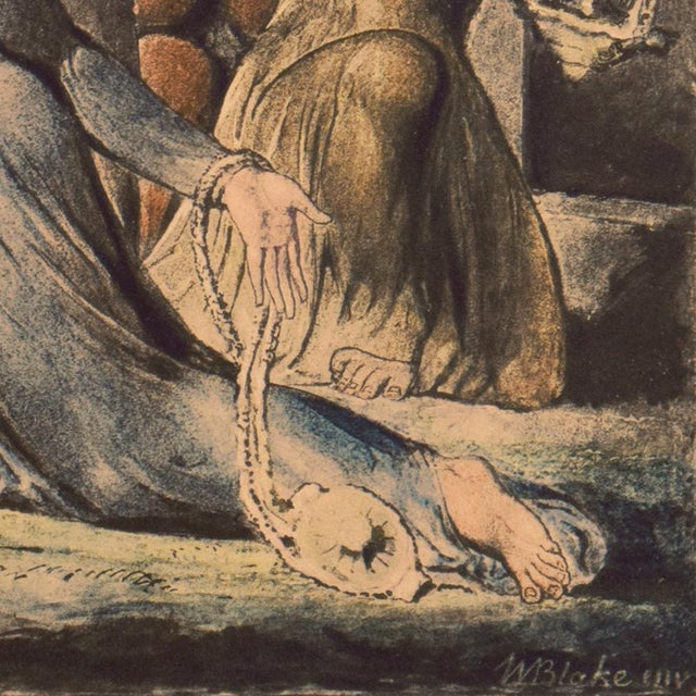 'The Parable of the Wise and Foolish Virgins' by William Blake, Proto-Symbolist Lithograph For Sale - Image 4 of 12