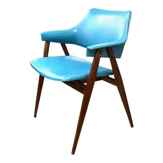 Mid Century Chair in Blue