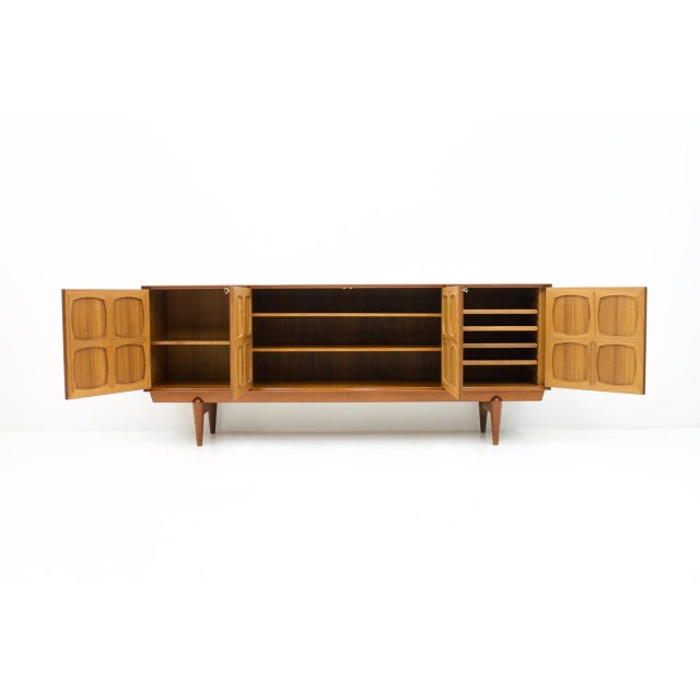 Very nice teak sideboard by Adolf Rastad and Rolf Relling made by Gustav Bahus from Norway, designed in 1960s. Massive...