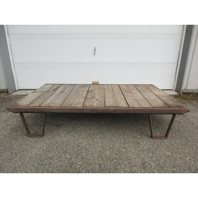 20th Century Industrial Pallet/Coffee Table For Sale - Image 12 of 12