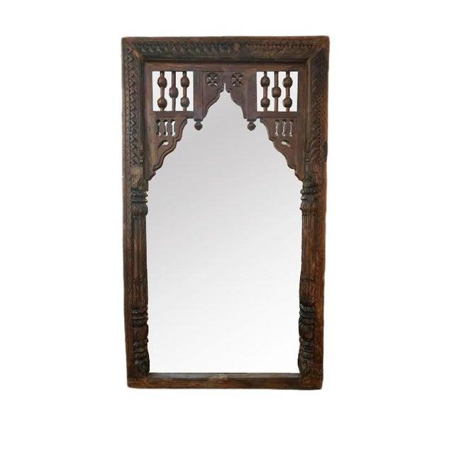 Antique Door Frame Mirror - Image 1 of 3