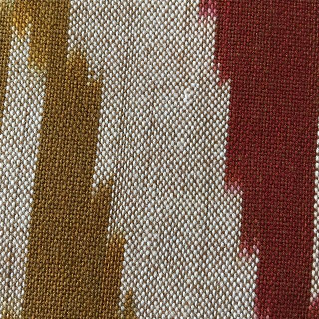 Handwoven Uzbek Ikat Fabric - 3 Yards - Image 4 of 10