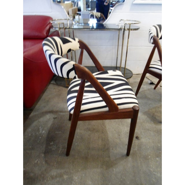 Danish Modern Glass Table & 4 Chairs - Image 6 of 8