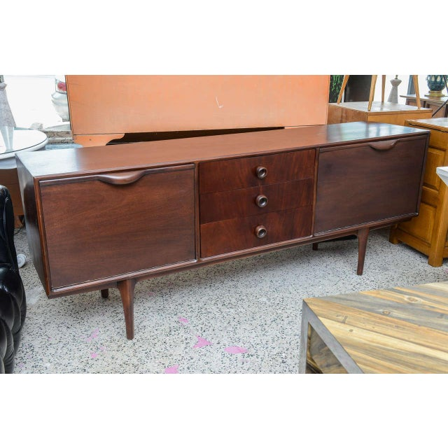 Gorgeous Brazilian mahogany credenza or buffet from 1960s, Brazil. Beautifully restored.