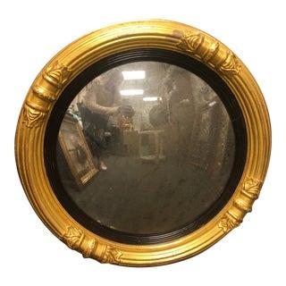 Antique Round Gold Frame Mirror For Sale