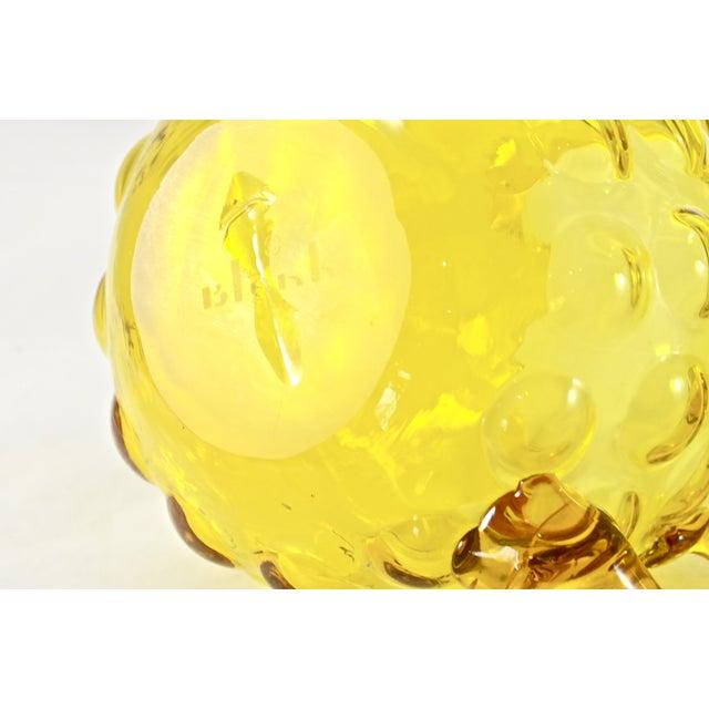 Blenko Blenko Yellow Bubble Glass Cream & Sugar - A Pair For Sale - Image 4 of 4