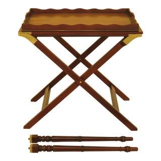 Baker Mahogany Serving Tray Table