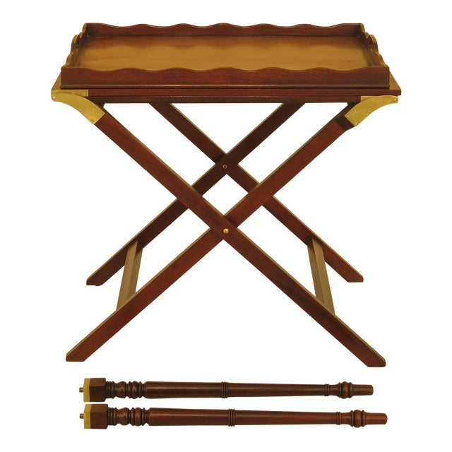 Baker Mahogany Serving Tray Table For Sale
