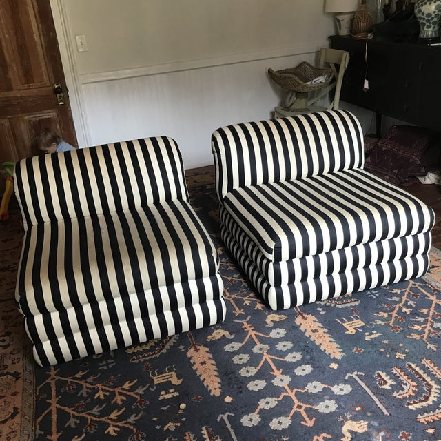 Vintage Directional Slipper Chairs - a Pair For Sale - Image 13 of 13