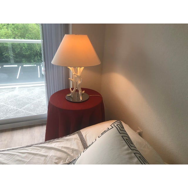 Contemporary White Coral Branch Lamp For Sale - Image 3 of 8