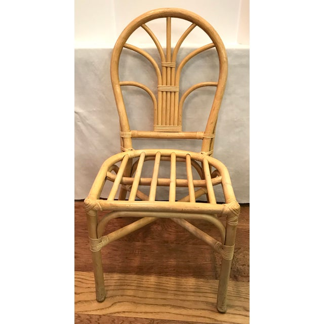 Mid-Century Modern Vintage Mid Century Bamboo Chair For Sale - Image 3 of 10