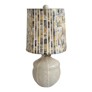 Small Gray Table Lamp For Sale