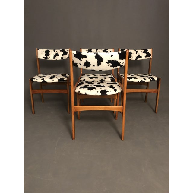 Vintage Mid Century Curated Teak Danish Dining Chairs- Set of 4 For Sale In New York - Image 6 of 12