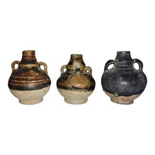 Ancient Thai Oil Jars - Set of 3 For Sale
