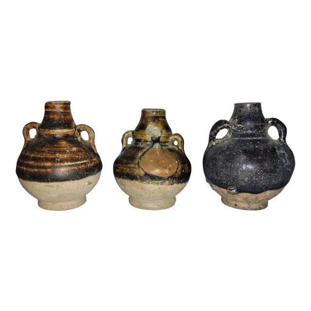 Ancient Thai Oil Jars - Set of 3 For Sale