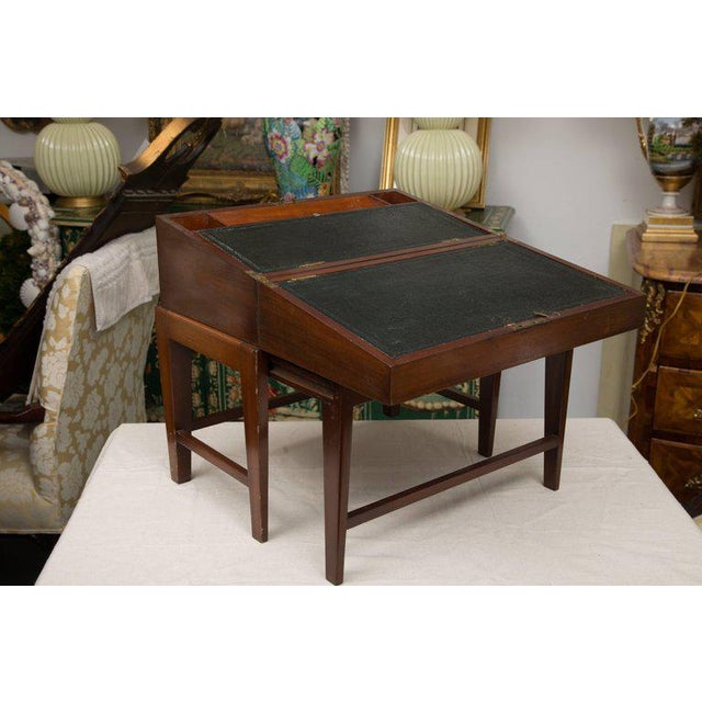 19th Century Mahogany Lap Desk on Later Stand For Sale - Image 9 of 9