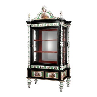 Meissen Porcelain Vitrine For Sale