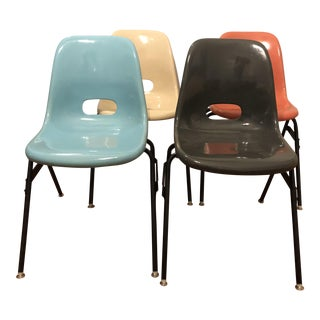 Krueger Fiberglass Eames Atomic Shell Chairs - Set of 4